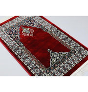 Traditional Floral Kilim Islamic Prayer Rug - Red