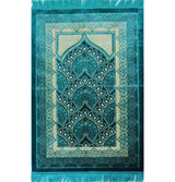 Modefa Prayer Rug Turquoise Double Plush Wide Extra Large Prayer Rug - Turquoise