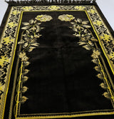 Modefa Prayer Rug Velvet Dancing Rose Vine Islamic Prayer Rug - Brown