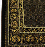 Modefa Prayer Rug Velvet Floral Stamp Islamic Prayer Rug - Brown