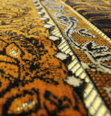 Modefa Prayer Rug Velvet Wild Daisy Islamic Prayer Rug - Brown/Orange
