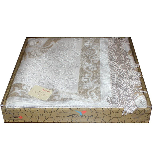 Modefa Prayer Rug Luxury Thin Velvet Prayer Mat Gift Box Set Ottoman Tulip - Modefa
