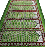 Modefa Prayer Rug Wide 5 Person Masjid Islamic Prayer Rug - Geometric Lattice Green
