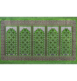 Modefa Prayer Rug Wide 5 Person Masjid Islamic Prayer Rug - Green/Red