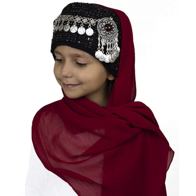 Modefa Red Traditional Turkish Ottoman Hat for Girls - Ertugrul Halime Hatun - Red