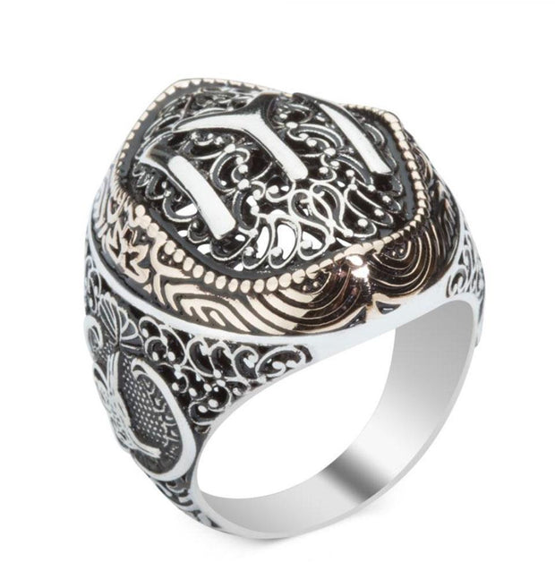 Modefa ring Men's Silver Turkish Ertugrul IYI & Tughra Ring