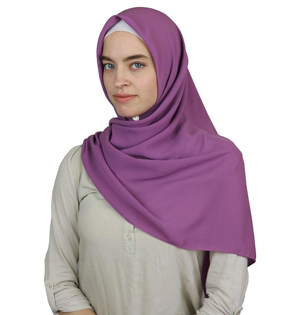 Square Solid Chiffon Hijab Scarf Light Magenta