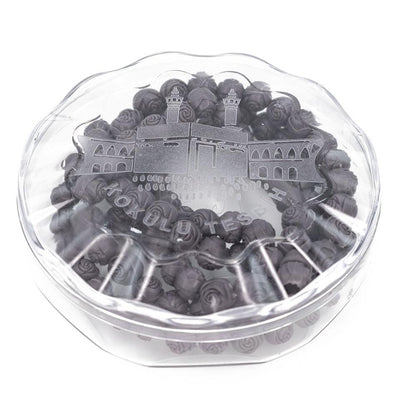Modefa Tesbih Dark Gray Rose Scented Acrylic Tesbih - Dark Gray