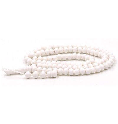 Modefa Tesbih White Islamic Tesbih Acrylic 99 Count Prayer Beads - White
