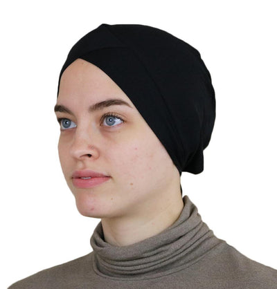Modefa Underscarf Black Modefa Criss-Cross Bonnet Black