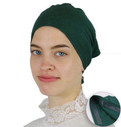 Modefa Underscarf Green Modefa Non-Slip Cotton Bonnet - Green