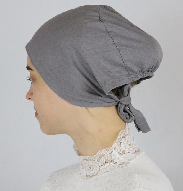 Modefa Underscarf Grey Modefa Non-Slip Cotton Bonnet - Dark Grey