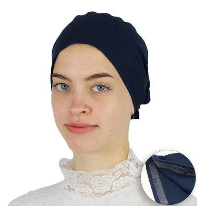 Modefa Underscarf Navy Blue Modefa Non-Slip Cotton Bonnet - Navy Blue