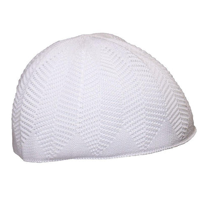 Nida Kufi White Islamic Men's Knit Kufi Cap White