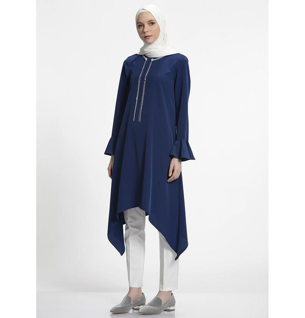 Nihan Modest Tunic J3019 Navy Blue