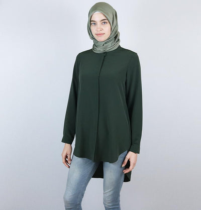 Nihan Modest Tunic J3149 Olive Green