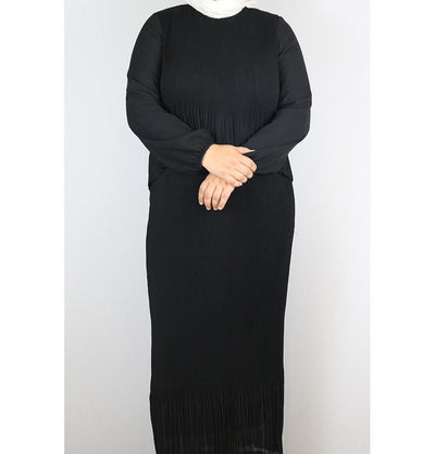 Puane Modest Plus Size Dress 9002 Black