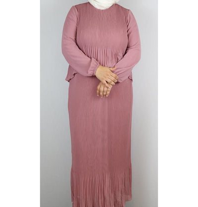 Puane Modest Plus Size Dress 9002 Pink