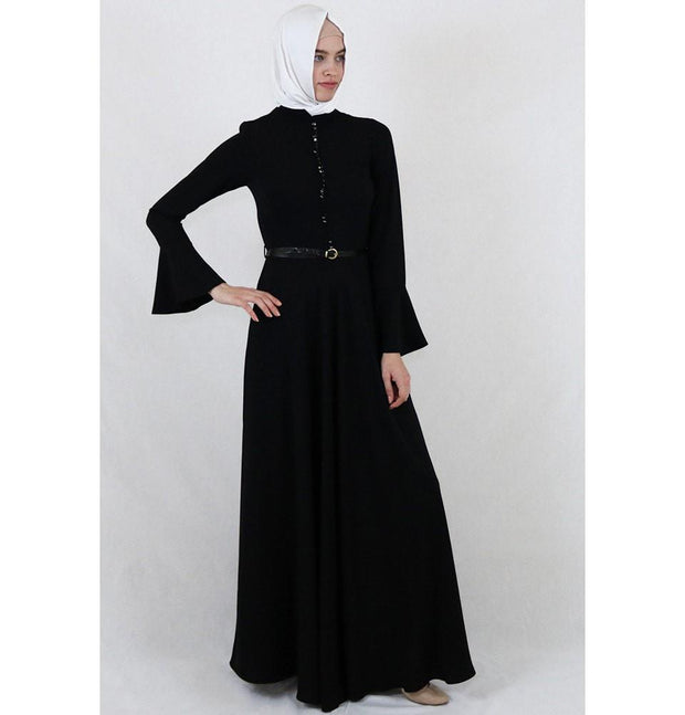 Puane Dress Puane Formal Dress with Bell Sleeves 4809 Black
