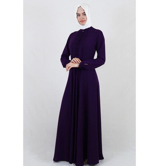 Puane Dress Puane Formal Dress with Lace 4808 Purple