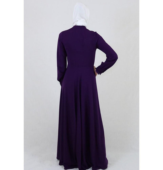 Puane Dress Puane Formal Dress with Lace 4808 Purple - Modefa