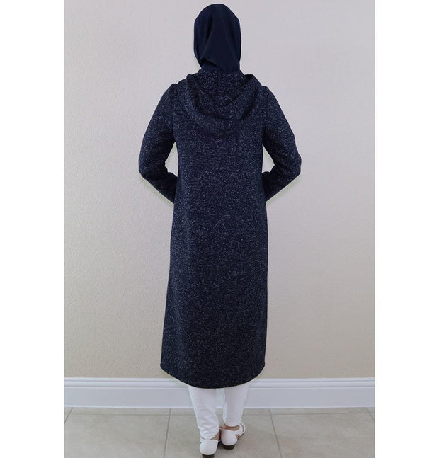 Puane Outerwear Puane Hooded Wool Touch Coat 904504 Navy