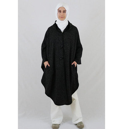 Puane Pancho One-Size / Black Puane Hooded Poncho 9022 Black