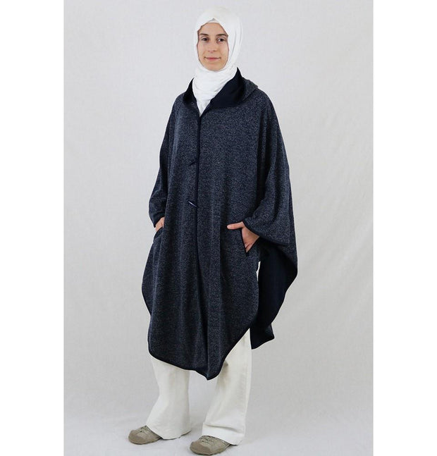 Puane Pancho Puane Hooded Poncho 9022 Blue - Modefa