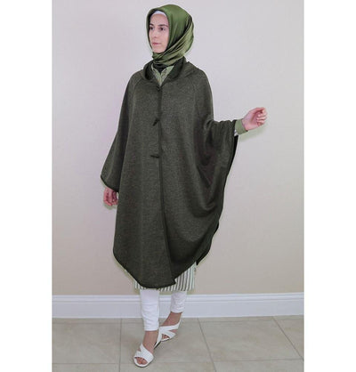 Puane Pancho One-Size / Green Puane Hooded Poncho 9022 Green