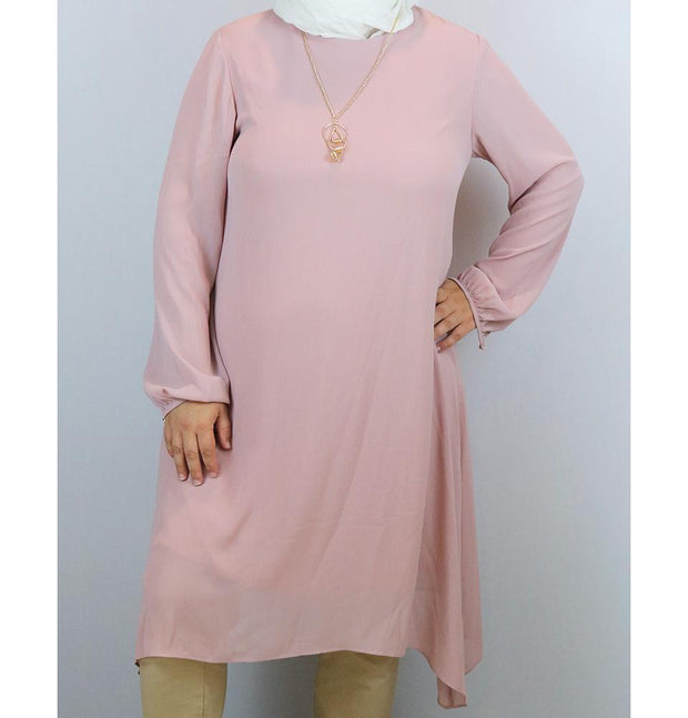 Puane Modest Plus Size Tunic 9006 Pink