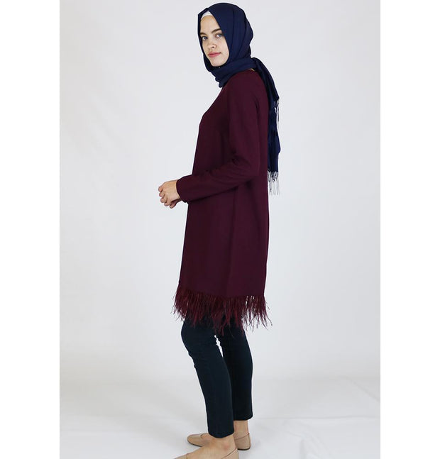 Puane Modest Tunic 7010 Burgundy