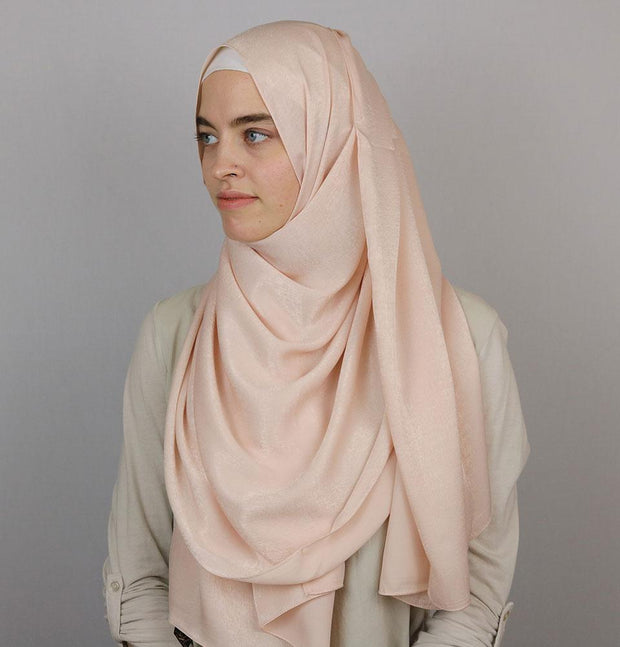 Modefa Shawl Light Pink Bamboo Satin Hijab Shawl Light Pink