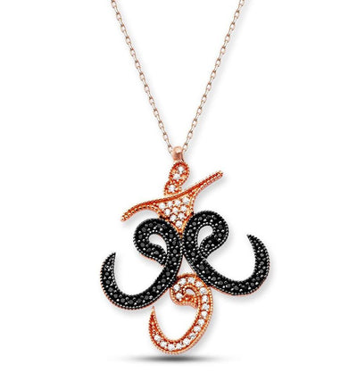 Tesbihane Necklace Women's Islamic Necklace Whirling Dervish with Three Waws - Modefa