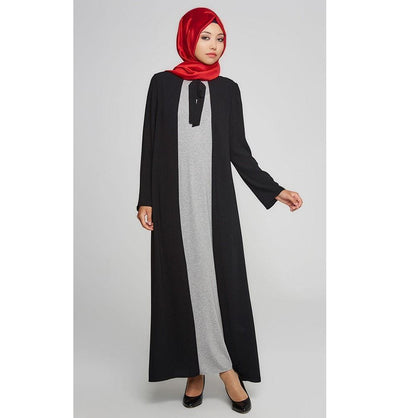 Tugba Dress Tugba Islamic Women's Turkish Ferace Jersey Dress F7105 Black - Modefa