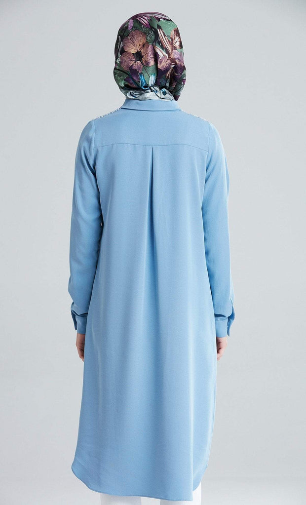 Tugba Modest Tunic M6642 Blue