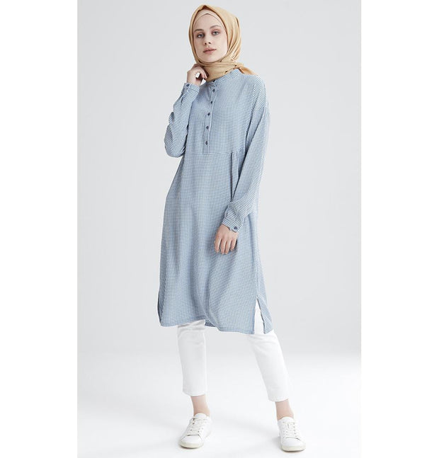 Tugba Modest Tunic M9412 Blue/White