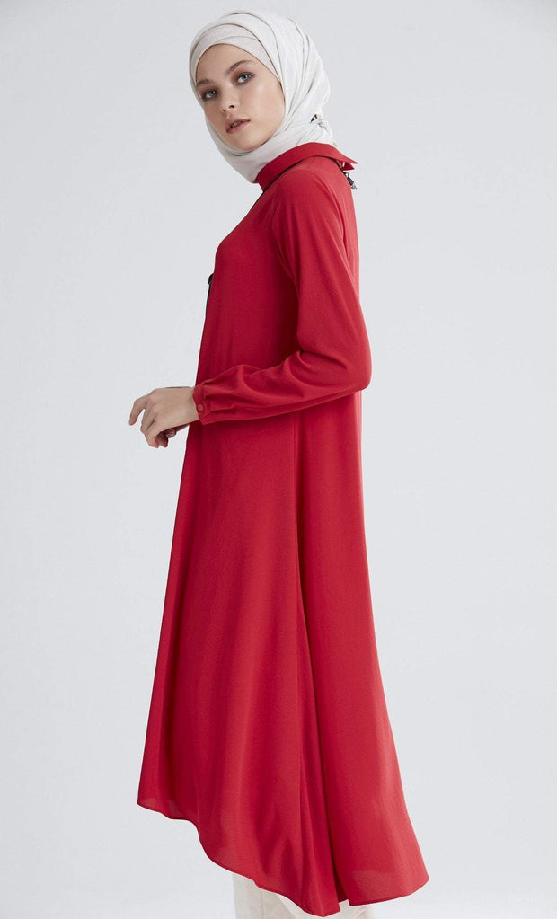 Tugba Modest Tunic M5165 Red