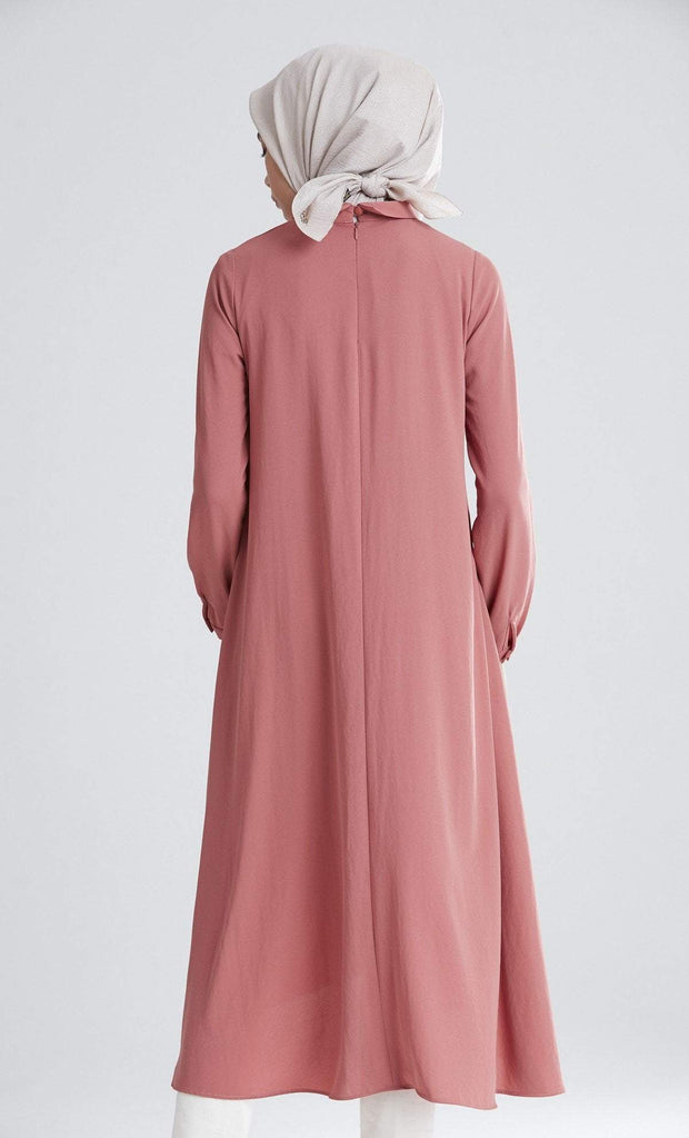 Tugba Tunic Tugba Modest Tunic M5165 Rose Gold