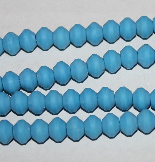 Yalcin Beads Blue Rose Scented Tesbih Acrylic Prayer Beads Turquoise Blue
