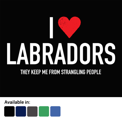 I Love Labradors - Humorous Ladies T-Shirt