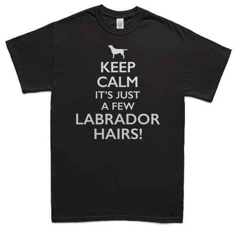 Keeps calm it's just a few Labrador hairs t-shirt - black