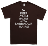 Keeps calm it's just a few Labrador hairs t-shirt - chocolate