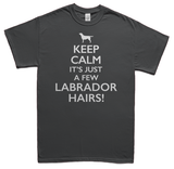 Keeps calm it's just a few Labrador hairs t-shirt - gray
