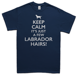 Keeps calm it's just a few Labrador hairs t-shirt - navy