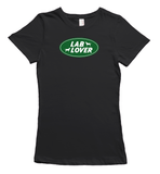 Labrador lover logo t-shirt - Black