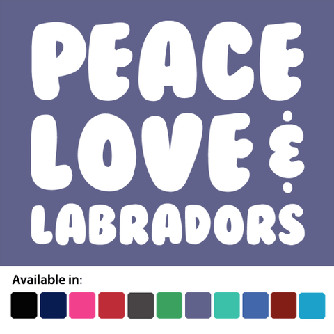 Peace, Love and Labradors 2 - Ladies T-Shirt