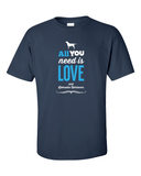 All you need is love and Labradors t-shirt - navy