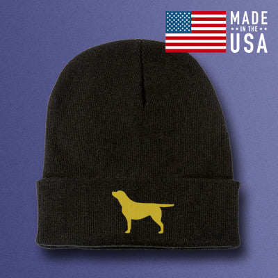 Black Labrador Retriever beanie hat