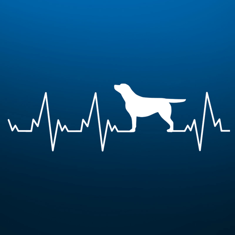 Labrador Lover's Heartbeat Sticker