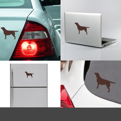 Chocolate Labrador decal